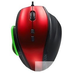 "DELUX "" DLM- 535"" Мышь опт. (1000/<wbr>1500/<wbr>2000/<wbr>3000 DPI), USB 2,0 (7 кнопок+скролл), черно - красная"