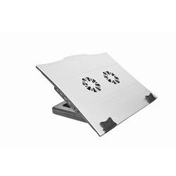 """Gembird  NBS-5 Охлаждающая подставка для ноутбука ,  Вент. , до 17W"""" , HUB 4порта USB2.0, (390x305x31mm"""