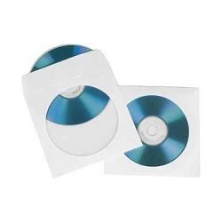 HAMA Конверты для CD/<wbr>DVD бумажные с прозрачным окошком 100 шт. белый H-51174