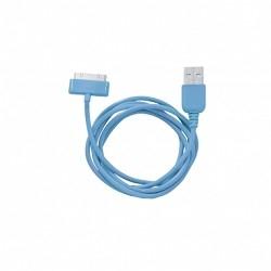 Кабель 30-pin to USB Human Friends Super Link Rainbow C Blue, 1м, для Iphone 3G\<wbr>3Gs\<wbr>4\<wbr>4s, iPad 1\<wbr>2\<wbr>3, iPod 5 g\<wbr>classic\<wbr>nano 1 g\<wbr>nano 2 g\<wbr>nano 3 g\<wbr>nano 4 g\<wbr>nano 5 g\<wbr>nano 6 g\<wbr>touch 1 g\<wbr>touch 2 g\<wbr>touch 3