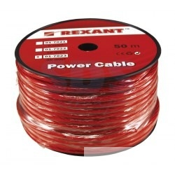 "REXANT (01-7023) Кабель силовой  "" Power Cable"" 1х16мм, красный, 50м. , d 8,5 мм."