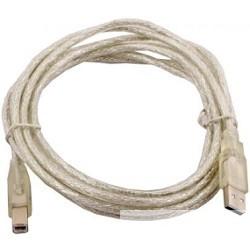 VCOM VUS6900-3MTP Кабель USB 2.0 AM/<wbr>BM 3.0m прозрачная изоляция