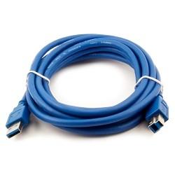 VCOM VUS7070-1.8M Кабель соединительный  USB3.0 Am/<wbr>Bm 1,8m (VUS7070-1.8M)