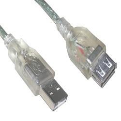 VCOM VUS6936-3MTP Кабель удлинительный USB2.0 AM/<wbr>AF 3.0m прозрачная изоляция