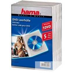 Коробка Hama H-83895 Jewel Case для DVD 5 шт. пластик прозрачный