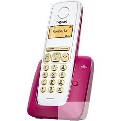 Gigaset A130 BORDEAUX Телефон беспроводной ( трубка с ЖК диспл. , База, Заряд. устр-во) стандарт-DECT (бордовый)