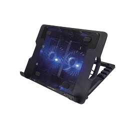 """CROWN  Подставка для ноутбука CMLS-940 (Black) 15,6"""" , 2*Fan, blue light,2*USB"""