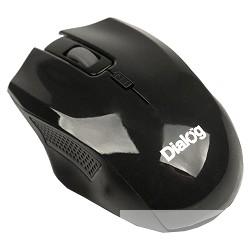 Мышь MROP-04U BLACK Dialog Pointer RF 2.4G Optical - 3 кнопки + ролик прокрутки, USB, черная