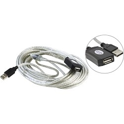 Aopen Кабель-адаптер USB2.0-repeater, удлинительный активный < Am--> Af> 10м (ACU823-10M) [6938510851321]