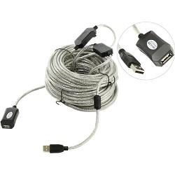 Aopen Кабель-адаптер USB2.0-repeater, удлинительный активный < Am--> Af> 25м (ACU823-25M) [6938510851352]