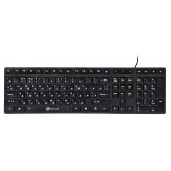 Клавиатура Oklick 556S черный USB slim Multimedia [335972]
