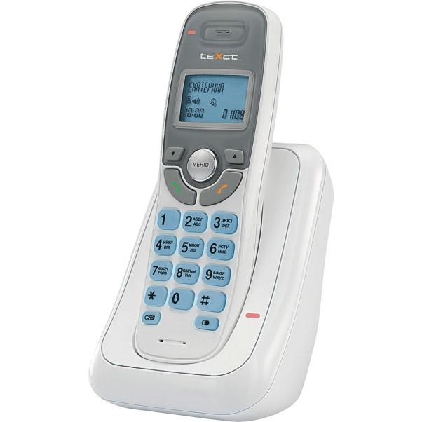 TEXET TX-D6905A  белый (громкая связь, телефонная книга на 50 имен и номеров, определитель номера, будильник)
