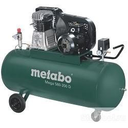 Metabo MEGA 580-200 D Компрессор [601588000] 3кВт,580/<wbr>м,400В,11б,200л, вес 126 кг