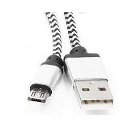 Gembird Кабель USB 2.0 Cablexpert CC-mUSB2sr1m, AM/<wbr>microBM 5P, 1м, нейлоновая оплетка, алюминиевые разъемы, серебристый, пакет