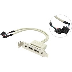 Espada Планка в корпус USB2.0 -2 порта, низкопрофильная (EBRT-2USB2LOW)