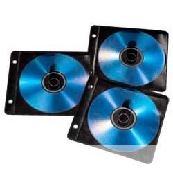 Hama H-84102 [825916] Конверты для 2 CD/<wbr>DVD с перфорацией для портмоне с кольцами 50 шт. черный/<wbr>прозрачный