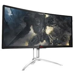 "LCD AOC 35"" AGON AG352QCX черный MVA Curved FreeSync 2560x1080@200Hz 21:9 2000:1 300cd D-Sub D-sub DisplayPort DVI MHL HDMI USB3.0x2 AudioOut 5Wx2"