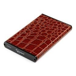 """Gembird EE2-U2S-70L-BR Внешний корпус 2.5"""" , коричневый, USB 2.0, SATA, металл+кожзам, блистер"""