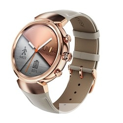 """ASUS ZenWatch3 смарт часы диагональ 1.39"""" , rose-gold with beige leather"""