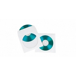 HAMA Конверты для CD/<wbr>DVD бумажные с прозрачным окошком 100шт (белый) H-49995
