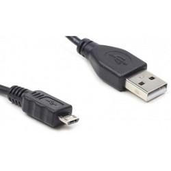 Cablexpert Кабель USB 2.0 Pro AM/<wbr>microBM 5P, 1м, черный, пакет (CC-mUSB2-AMBM-1M)