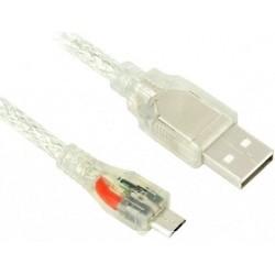 Greenconnect Кабель micro USB 2.0 прозрачный, 28/<wbr>24 AWG, AM / microB 5pin, Premium, экран, армированный, морозостойкий (GCR-UA2MCB2-BD2S-0.75m)