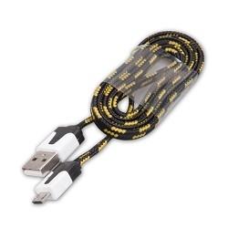 RITMIX Кабель MicroUSB-USB для синхронизации/<wbr>зарядки, 1м, ткан. опл. black (RCC-211)