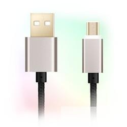 Ginzzu data-кабель USB-microUSB , черный, плетенный, 1,0м (GC-558UB)