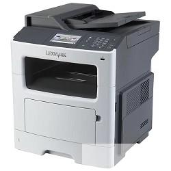 Lexmark MX417de 35SC801 3 в 1, лазерный, печать черно-белая, максимальный формат А4, скорость ч/<wbr>б печати 38 стр/<wbr>мин, разъемы и средства связи: RADF, USB 2.0, LAN, вес: 20 кг
