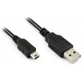 Greenconnect Кабель mini USB 2.0, 28/<wbr>28 AWG, AM / mini 5P, экран, армированный, морозостойкий , 0.15m черный (GCR-UM2M5P-BB2S-0.15m)