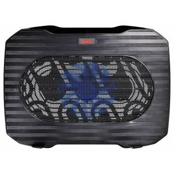 "BURO Подставка для ноутбука 15.6""357x265x33mm 1xUSB 1x 140mmFAN 345г металлическая сетка/<wbr>пластик черный (BU-LCP156-B114)"