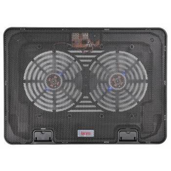 "BURO Подставка для ноутбука 15.6""355x255x30mm 2xUSB 2x 140mmFAN 657г металлическая сетка/<wbr>пластик черный (BU-LCP156-B214H)"
