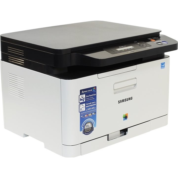 SAMSUNG SL-C480 (SS254E) цветное мфу A4, P/<wbr>C/<wbr>S, 18/<wbr>4ppm, 2400x600, 128Mb, USB2.0A4; ОС: Windows, Linux, Mac OS