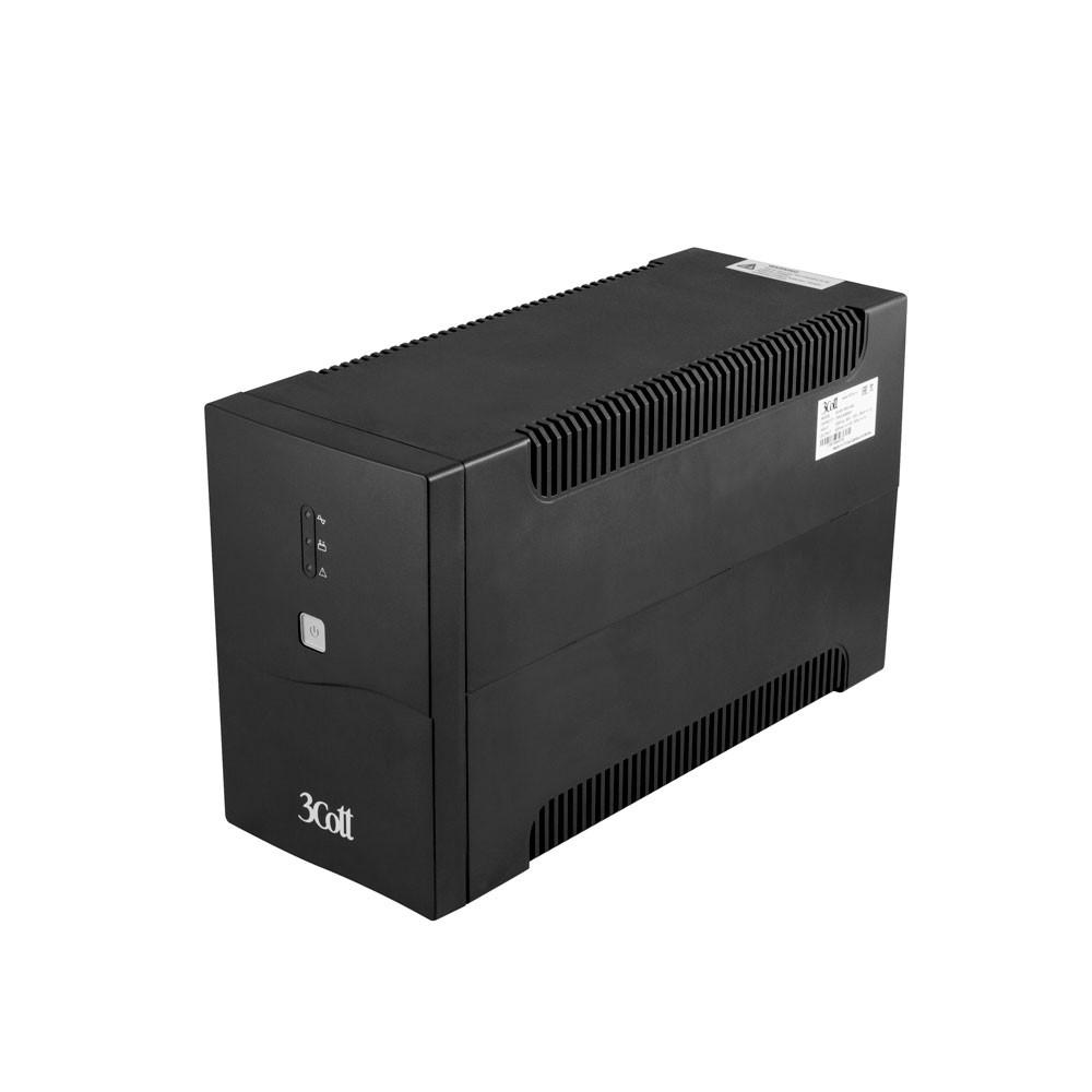 3Cott ИБП 3Cott-1500-CNL Connect Line 1500VA/<wbr>900W USB, AVR, RJ11, RJ45 (4 Euro+2 IEC) 0509786