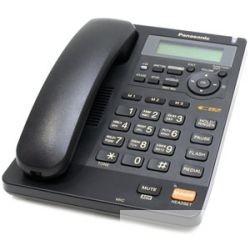 Panasonic KX-TS2570RUB (черный) ЖКД, АОН, однокноп. набор 3 ном. , автодозвон, спикерфон, порт для доп. оборуд.