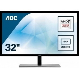 "LCD AOC  32"" Q3279VWF Silver-Black VA LED 2560x1440 5ms 178/<wbr>178 250cd 3000:1 DVI HDMI DisplayPort AudioOut"