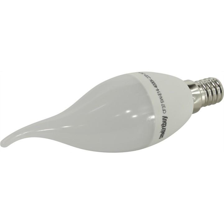 Smartbuy SBL-C37Tip-05-40K-E14 Светодиодная (LED) Свеча на ветру матовая 05W/<wbr>4000/<wbr>E14
