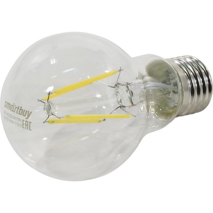 Smartbuy SBL-A60F-5-40K-E27 Светодиодная (LED) Лампа FIL A60-5W/<wbr>4000/<wbr>E27