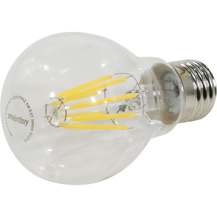 Smartbuy SBL-A60F-8-30K-E27 Светодиодная (LED) Лампа FIL A60-8W/<wbr>3000/<wbr>E27