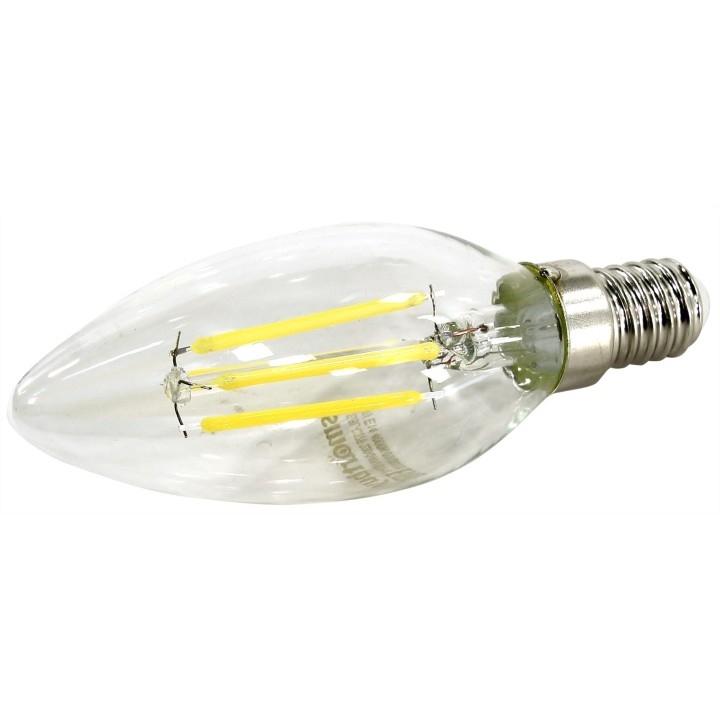 Smartbuy SBL-C37F-07-40K-E14 Светодиодная (LED)FIL Лампа свеча C37-07W/<wbr>4000/<wbr>E14