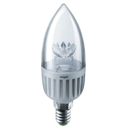 Navigator 71854 Светодиодная лампа NLL-C37-7-230-2.7K-E14-CL