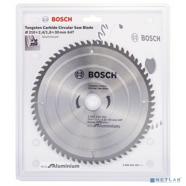 Bosch BOSCH 2608644391 Пильный диск ECO ALU/Multi 210x30-64T