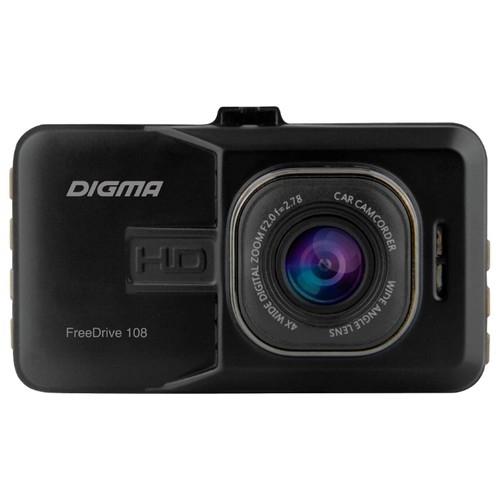 Видеорегистратор Digma FreeDrive 108 черный 1080x1920 1080p 140гр. NTK96223, Sony Sensor, Активное крепление, Угол обзора 140 градусов. [393026]