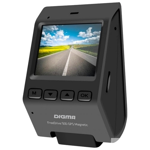 Видеорегистратор Digma FreeDrive 500-GPS Magnetic черный 2.19Mpix 1920x1080 1080p 140гр. GPS NTK9655 Магнитное крепление, Sony Sensor