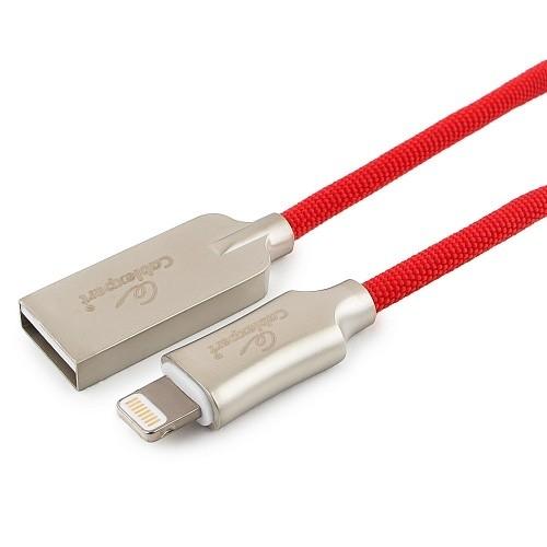 Cablexpert Кабель для Apple CC-P-APUSB02R-1M MFI, AM/<wbr>Lightning, серия Platinum, длина 1м, красный, блистер