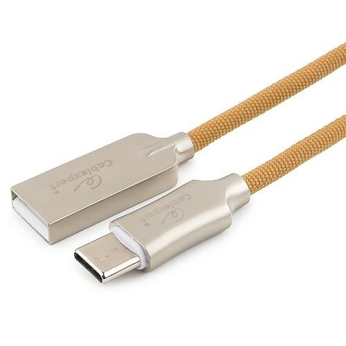 Cablexpert Кабель USB 2.0 CC-P-USBC02Gd-1.8M AM/<wbr>Type-C, серия Platinum, длина 1.8м, золотой, блистер