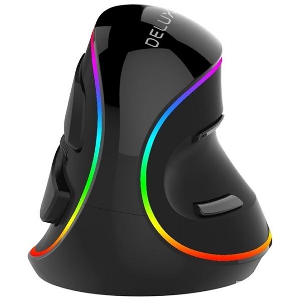 DELUX KM-M618Plus RGB, Мышь вертикальная, USB (800/<wbr>1200/<wbr>1600/<wbr>2400/<wbr>4000)