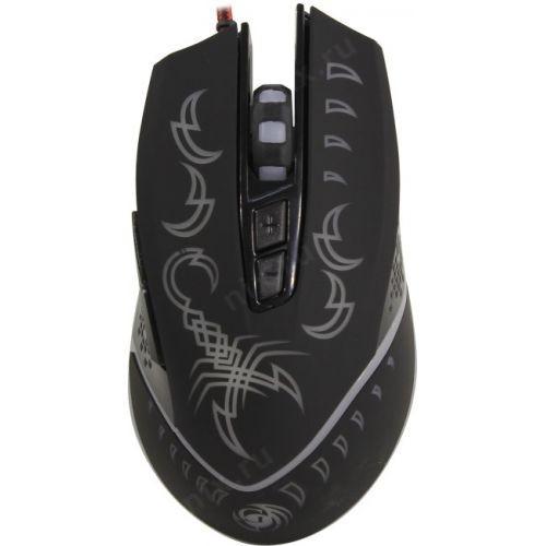 Мышь MGK-20U Dialog Gan-Kata - игровая, 7 кнопок + ролик , 7-ми цветная подсветка, USB, черная