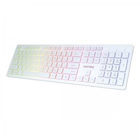 Клавиатура проводная с подсветкой Smartbuy ONE 305 USB белая [SBK-305U-W]