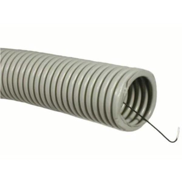 Союзэлектропласт Труба гофрированная 20 мм ПВХ (серая) с зондом (кусок 25 м)